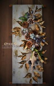 木の実とアーティフィシャルの冬飾り