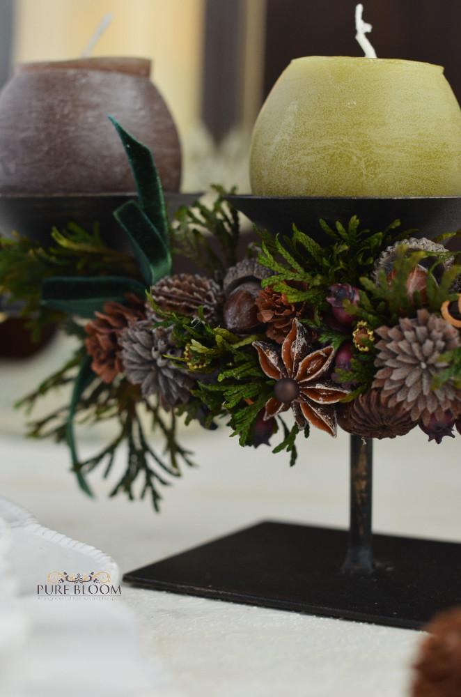 木の実とスパイスのクリスマス飾り2