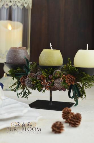 木の実とスパイスのクリスマス飾り1