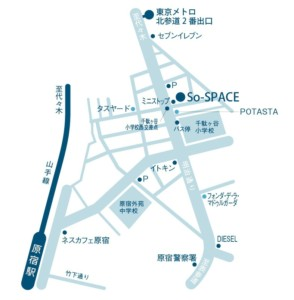 千駄ヶ谷So-SPACE地図