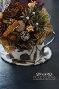 カルトナージュカップに木の実のシュトラウス1
